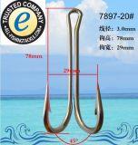 Edelstahl-doppelter Fischerei-Haken 7897