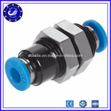 Les garnitures de tuyaux d'air de l'usine 3/8 1/2 de la Chine jeûnent ajustage de précision hydraulique de coupleur rapide de garnitures de tube