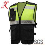 Ropa protectora reflexiva del Vis de la seguridad hola (QF-588)
