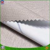 Capa impermeable tejida poliester tejida materia textil casera de la tela de la tela de la tela que se reúne la tela oculta del franco para la cortina de ventana del hotel