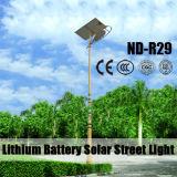 disegno alimentato solare IP65 dell'indicatore luminoso di via della batteria di litio 12V 30W~120W LED