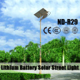 12V 리튬 건전지 태양 강화된 가로등 30W~120W LED 디자인 IP65