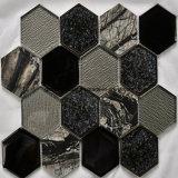 Crackle meraviglioso Ice Ceramic & Glass Mosaic con Hexagonal Shape