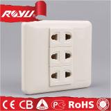 Soquete elétrico da tomada de potência da parede R8-a-16