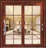 Энергосберегающая термально раздвижная дверь алюминия пролома