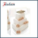 sac de papier en ivoire stratifié lustré de cadeau d'achats du mariage 210GSM de papier