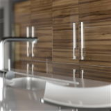 Alto Gloss Modular Kitchen Cabinets per la mobilia di Home (Customized)