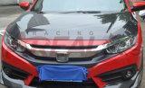 pour Honda Civic X 2016 10ème capots de capot de fibre de carbone