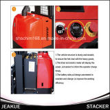 Impilatore elettrico pieno della batteria del piedino della vasta gamma da 1.4-1.6 tonnellate