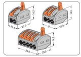 Wago 222-415 보편적인 콤팩트 5 Pin 지휘자 끝 구획