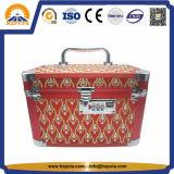 작은 알루미늄 허영 메이크업 장식용 상자 (HB-2021)