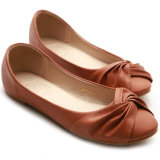 Ботинки женщин удобного шкафута PU пустые плоские