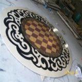 正方形の大理石のタイルはWaterjet円形浮彫りの床パターンを設計する