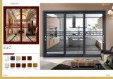 Aluminium dat Binnenlandse Deur met Dubbele Aangemaakte Verglazing voor Balkon glijdt