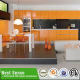 Warm Entwurf Grau Melamin PVC-Küche-Kabinett