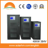 40kw 384V três entrou um UPS em linha trifásico de baixa frequência Output