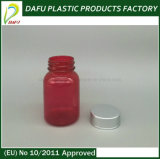 110ml赤いペット気性の明白な帽子が付いているプラスチック薬のびん