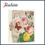 광택이 없는 박판으로 만들어진 아이보리페이퍼 Retro 꽃 물색 선물 종이 봉지