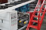 Linha de produção gêmea máquina plástica da placa da camada da extrusão para a bagagem