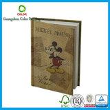 Cahier adapté aux besoins du client de livre À couverture dure avec les ventes en gros en cuir d'unité centrale