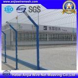PVC에 의하여 입히는 용접된 철망사 담 방호벽