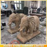 Die geschnitzte Hand gestaltet Elefant-Hauptdekoration