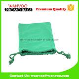 Aufbereitete grüne Gut-Baumwolldrawstring-Beutel-Beutel 100% für das Geschenk-Verpacken