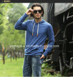 Новое Style Slub Cotton Mens Hoodie с Button Placket