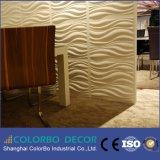 Painéis de parede decorativos do efeito da onda da decoração da parede interior