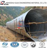 Tubo galvanizado acanalado de la alcantarilla del metal del diámetro grande para las alcantarillas del camino