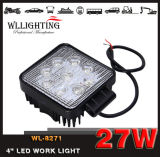 Quadratisches 27W LED Work Light 2150lm für Trucks Flood/Spot Beam