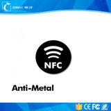 Etiquetas engomadas del en-Metal Ntag215 con insignia de NFC