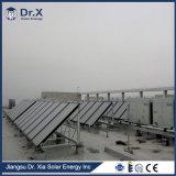 La placa plana del panel solar para calentamiento de agua