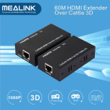 60m / 196FT Over Single Cat5e / 6 Câble HDMI Extender