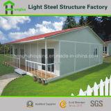 Casa prefabricada de la casa de la cuesta del chalet móvil de la azotea