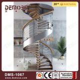 Cristal residencial de madera Escalera de caracol (DMS-1067)