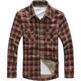 OEM van de fabriek Toevallige Overhemd van de Katoenen het Lange Manier van de Koker voor Mensen