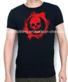T-shirt d'hommes de cou imprimé par qualité faite sur commande du coton O