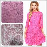 Heiße Baumwollstickerei-Spitze des Verkaufs-2016 für Form-Kleid