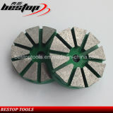 "3 "" Grantie, Marble를 위한 벨크로 Backing Metal Bond Polishing Pad"