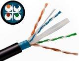 Cavo approvato di comunicazione di UL/CE/RoHS/ISO UTP Lszh Cm/Cmr CAT6