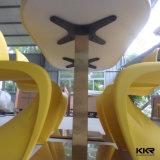 Kingkonree 단단한 표면 4 Seaters 돌 최고 식탁