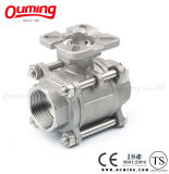 Direct Mounting Padの3 Pieces Threaded Ball Valve