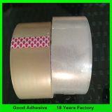 Cinta adhesiva de la impresión amarillenta de 48m m, cinta del embalaje