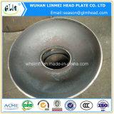 Pista elipsoidal servida del acero de carbón con el orificio de perforación para las calderas