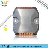 Gelber blinkender Tiefbaualuminium-LED verdrahteter Straßen-Stift