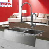 Cupc a reconnu 60/40 bassin fabriqué à la main avant d'acier inoxydable de tablier (HMAD3322L)