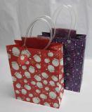 Bolsas de papel de la multitud con las manetas de la cinta del satén para el diseño de la manera
