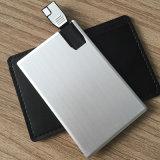 Commande faite sur commande blanche en gros d'instantané d'USB de carte de Matel Crdedit de logo (YT-3117)