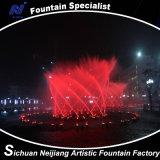 Oscillazione musicale della fontana di Dancing nel fiume